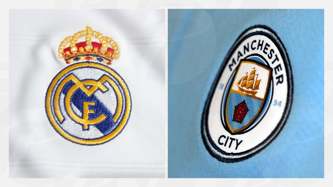 Escudos del Real Madrid y Manchester City